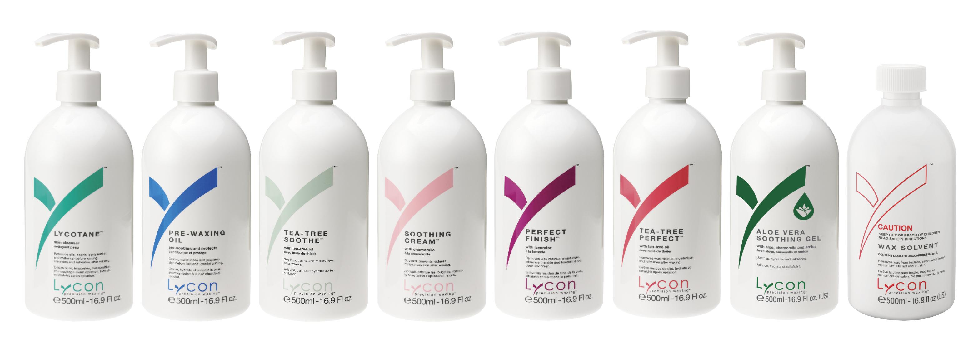 LYCON výrobky před/po epilaci